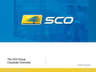 The SCO Group Corporate Overview