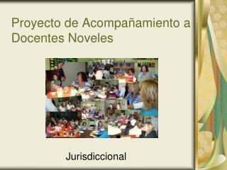 Proyecto de Acompañamiento a  Docentes Noveles