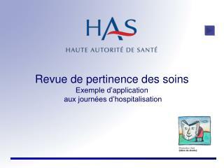 Revue de pertinence des soins Exemple d' application   aux journées d'hospitalisation