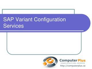 SAP Variant Configuration Services