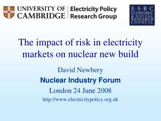 The impact of risk in electricity markets on nuclear new build