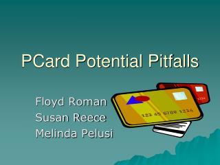 PCard Potential Pitfalls