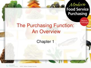 The Purchasing Function:  An Overview
