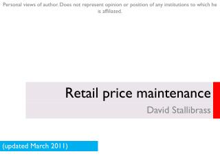 Retail price maintenance