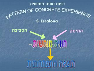 PATTERN OF CONCRETE EXPERIENCE