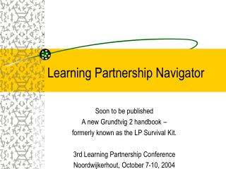 Learning Partnership Navigator