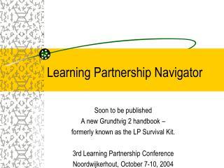 Learning Partnership Navigator
