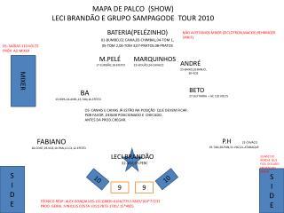 MAPA DE PALCO  SHOW LECI BRAND O E GRUPO SAMPAGODE  TOUR 2010