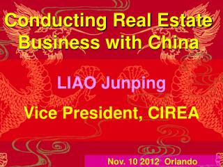 Conducting Real Estate Business with China