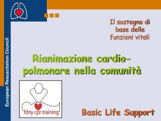 Rianimazione cardio-polmonare nella comunità