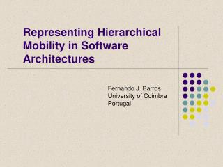 Representing Hierarchical Mobility in Software Architectures