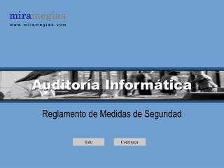 Auditor�a Inform�tica
