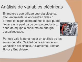 Análisis de variables eléctricas