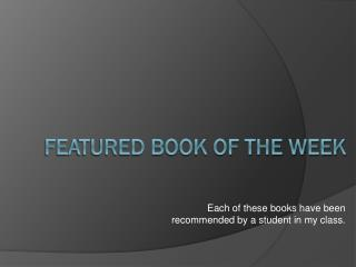 Featured Book of the Week
