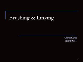 Brushing  Linking