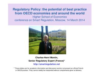 Charles-Henri Montin,  Senior Regulatory Expert  (France)* smartregulation