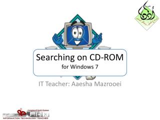 Searching on CD-ROM for Windows 7