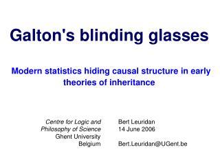 Bert Leuridan 14 June 2006 Bert.Leuridan@UGent.be