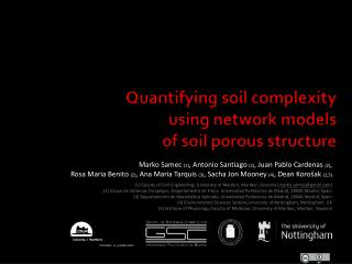 Quantifying soil complexity  using network models  of soil porous structure