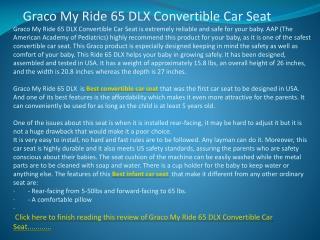 Graco My Ride 65 DLX Convertible Car Seat