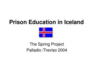 Prison Education in Iceland