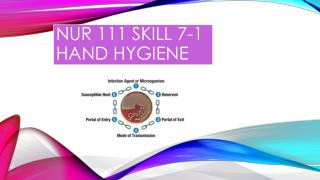 NUR 111 SKILL 7-1 HAND HYGIENE