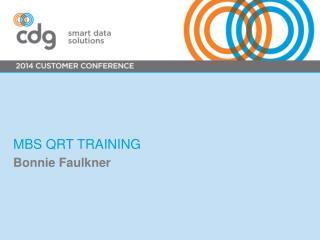 MBS QRT Training
