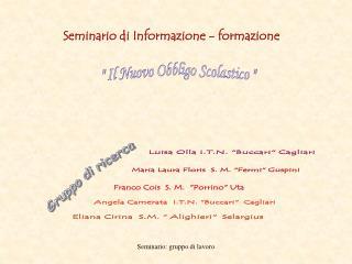 Seminario di Informazione - formazione