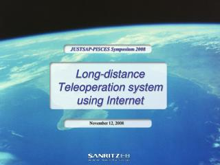 Long-distance  Teleoperation system using Internet