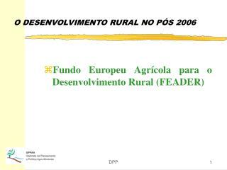 O DESENVOLVIMENTO RURAL NO PÓS 2006