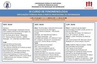 UNIVERSIDADE FEDERAL DE SANTA MARIA CENTRO DE CIÊNCIAS DA SAÚDE