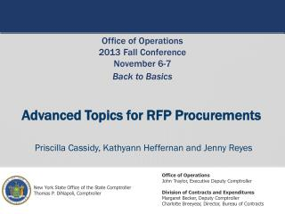 Advanced Topics for RFP Procurements