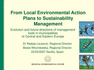 From Local Environmental Action Plans to Sustainability Management