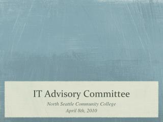 IT Advisory Committee