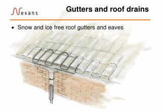 Gutters and roof drains