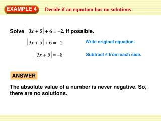 Decide if an equation has no solutions