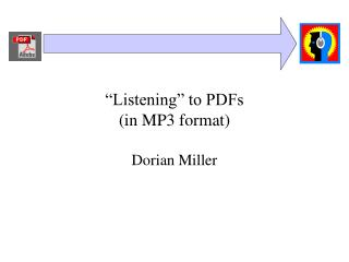 """Listening"" to PDFs  (in MP3 format)"