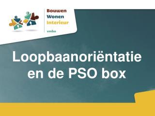 Loopbaanoriëntatie en de PSO box
