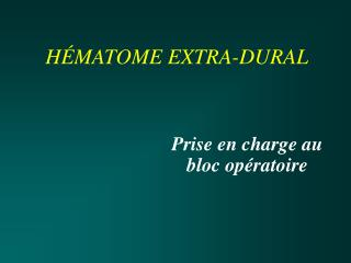 H�MATOME EXTRA-DURAL