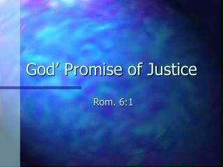 God' Promise of Justice