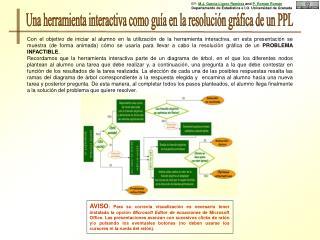 Una herramienta interactiva como guía en la resolución gráfica de un PPL