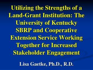 Lisa Gaetke, Ph.D., R.D.