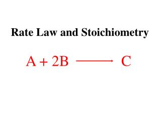 Rate Law and Stoichiometry