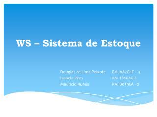 WS – Sistema de Estoque