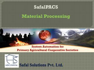Safal  Solutions Pvt. Ltd.