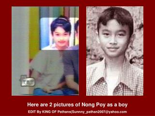 Here are 2 pictures of Nong Poy as a boy EDIT By KING OF Pathans(Sunnny_pathan2007@yahoo