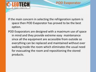 POD Evaporator