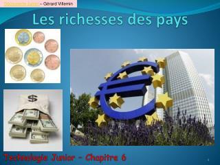Les richesses des pays