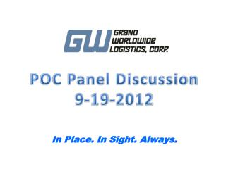 POC Panel Discussion 9-19-2012