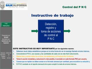 Control del P N C